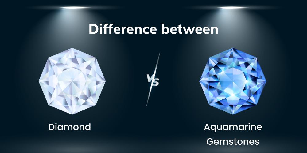 Difference Between Diamond and Aquamarine Gemstones